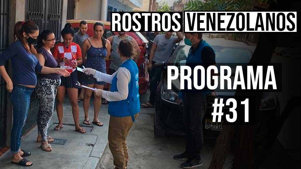 Programa 31 rostros venezolanos acnur
