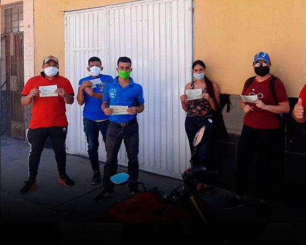 Venezolanos vales de consumo embajada