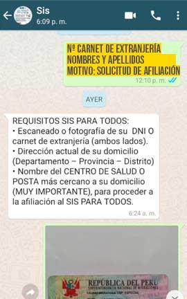 pasos afiliacion sis venezolanos peru