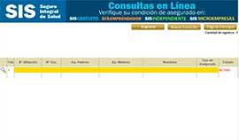 Sisi confirmación de afiliación venezolanos