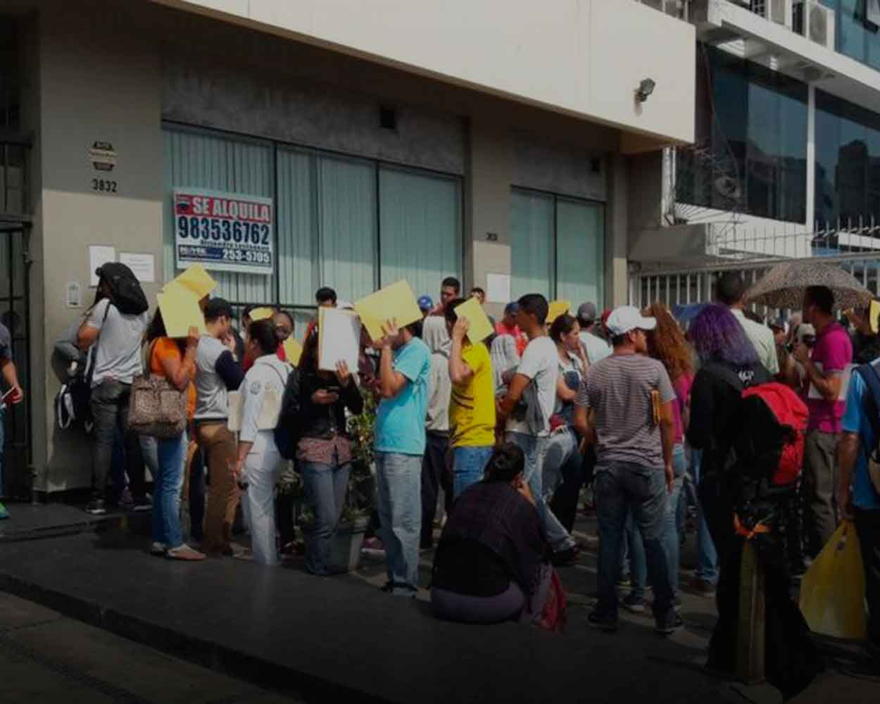 solicitud refugio venezolano