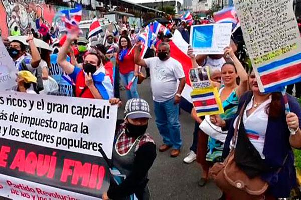 Costa Rica protestas FMI