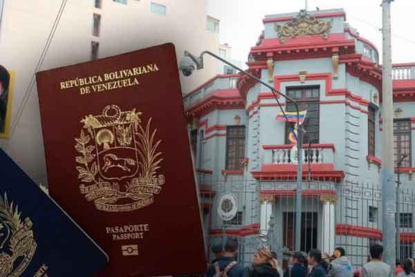 pasaportes venezolanos consulado de Lima 2021