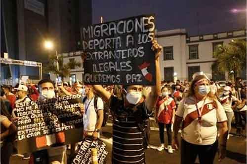 Marcha contra venezolanos Lima, Perú