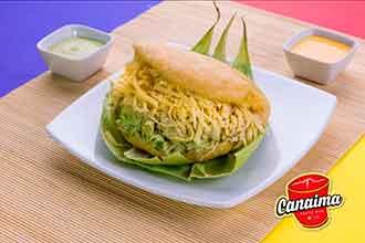 arepa-reina-pepiada-con-queso-amarillo restaurante canaima lima Perú