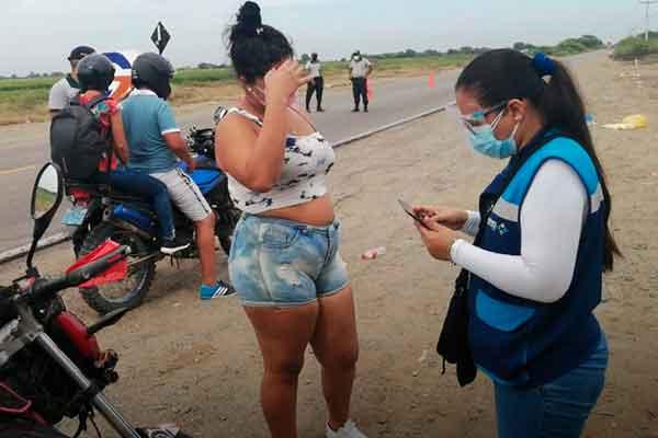 migraciones policía intervención venezolanos