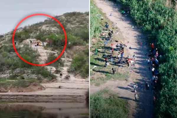 venezolanos frontera Estados Unidos Mexico Del rio Texas