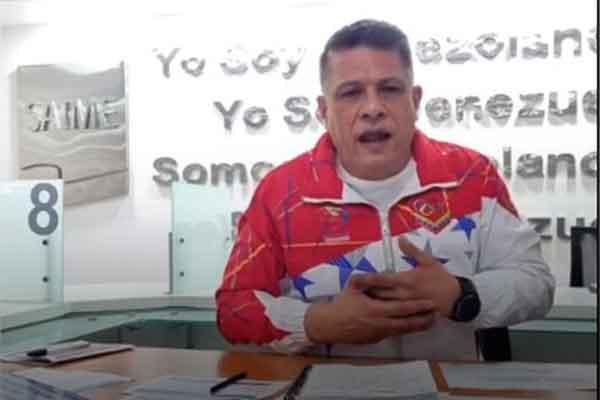 Vizcaino Saime cedula pasaporte correo