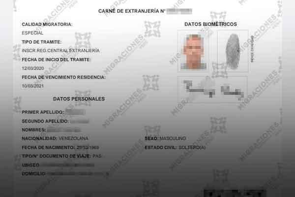 carnet extranjería digital venezolanos