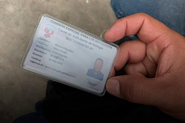 carnet solicitud de refugio