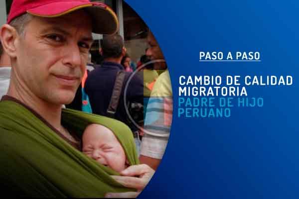 Carnet extranjería hijo peruano