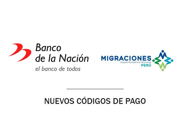 códigos banco nación migraciones